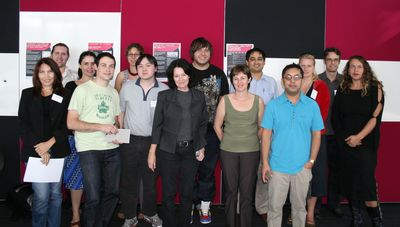 Dr Barbara Adkins (front-centre) and ACID Post Graduate Students
