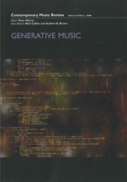 Contemporary Music Review, Volume 28 Issue 1 2009, Generative Music cover